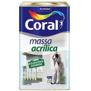 Marca Coral para aplicação de massa acrílica