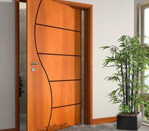 porta pivotante está entre os tipos de portas para casa