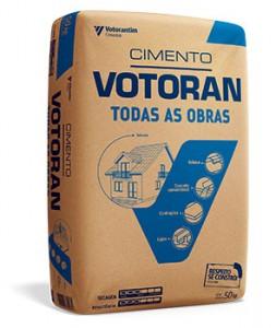 A diferença entre cimentos é exposta em uma embalagem azul