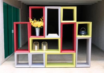móveis Tramontina na decoração com estantes