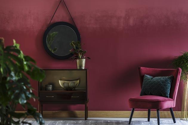 parede com efeito de pintura velvet