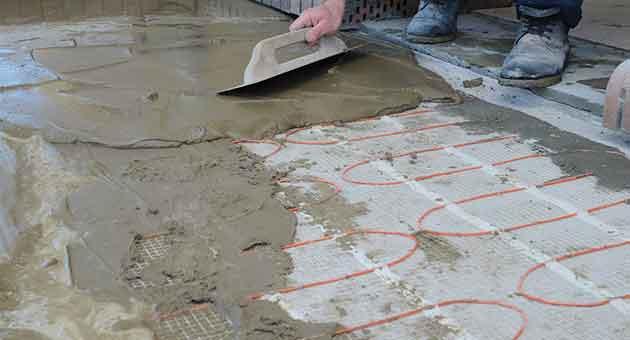 revestimento de cimento queimado