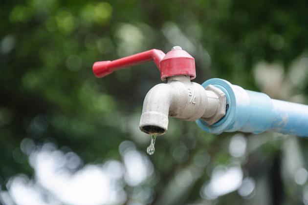 Torneira com falta d'água no inverno