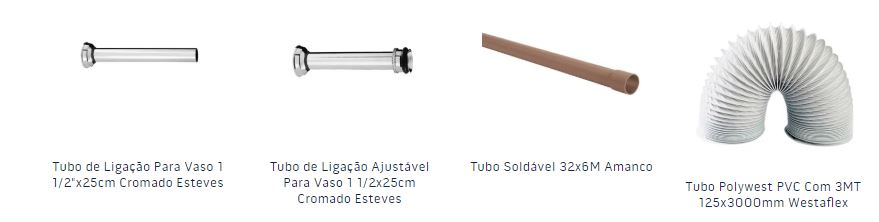 Tubos e conexões são materiais hidráulicos da Chatuba